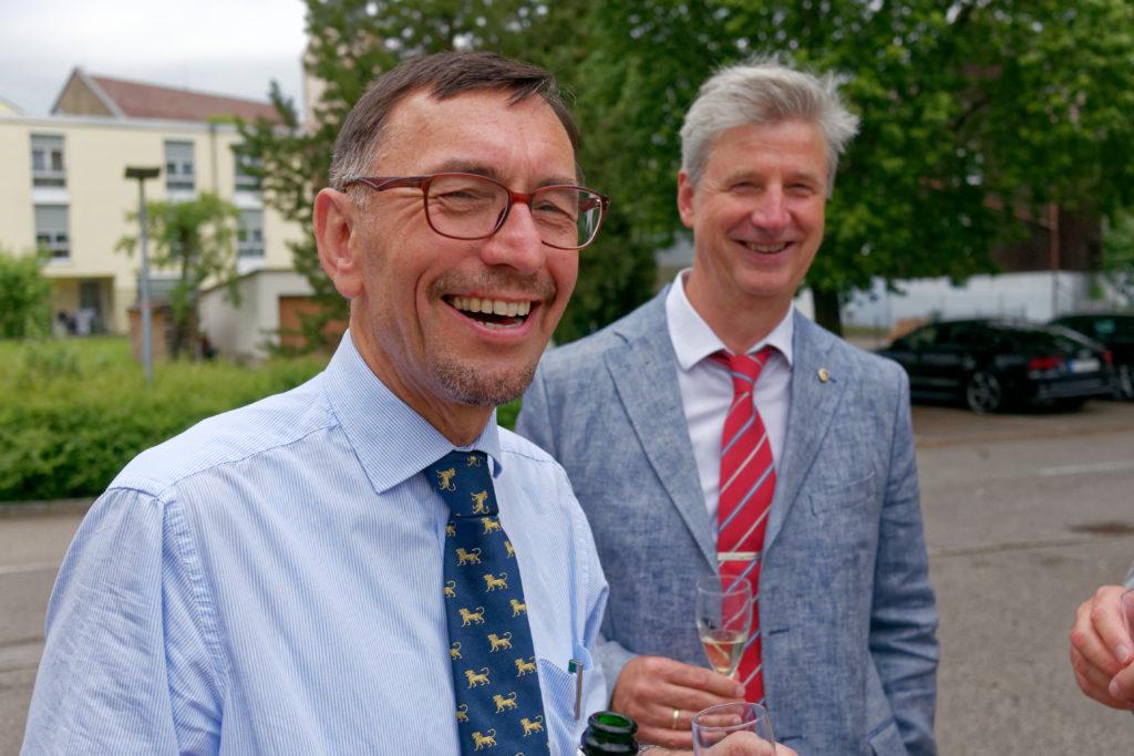 Präsidentenübergabe von Georg Neumann (links) an Peter Schühle.