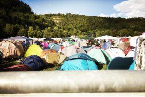 Stulle 2.0 ist Versorgung für die Bewohner der Zeltstadt beim Mini-Rock-Festival.