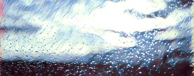Drinnen gemütlich, draußen nass. Ob wir wohl mit weißen Weihnachten rechnen dürfen?