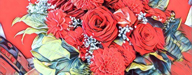 Heute mit im Lostopf: Blumen. Schenken.